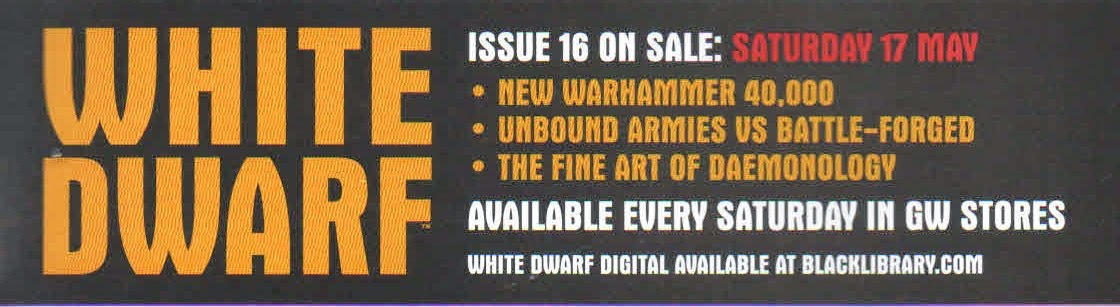 Anticipación del número 16 de la White Dwarf Weekly