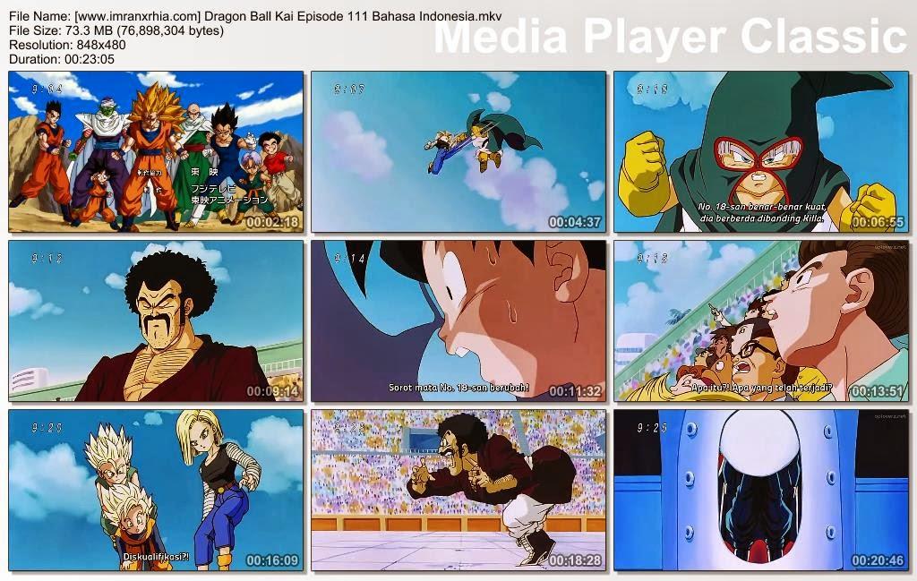 Download Film / Anime Dragon Ball Kai Episode 111 (Anak-Anak yang Menakutkan! Perjuangan No.18!) Bahasa Indonesia