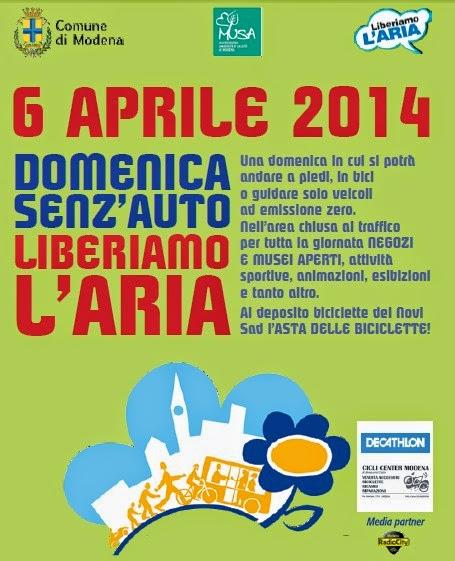 domenica senz'auto liberiamo l'aria di Modena