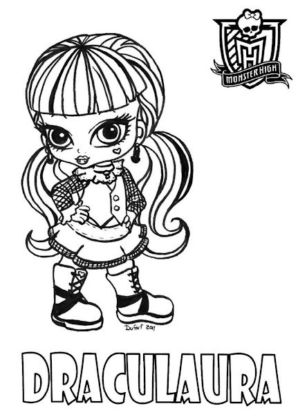 Monster High Babies Coloring Pages