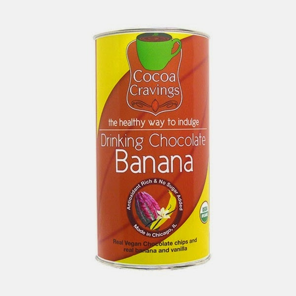 organic drinking chocolate - banana