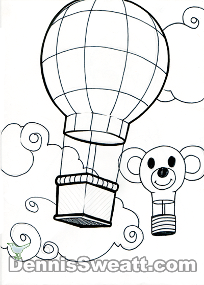 Coloring book Balloons