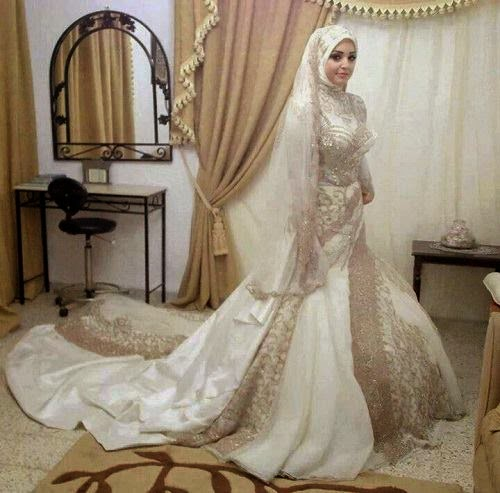 Hijab moderne - Robe de mariée hijab pas cher  Beautiful Hijab ...