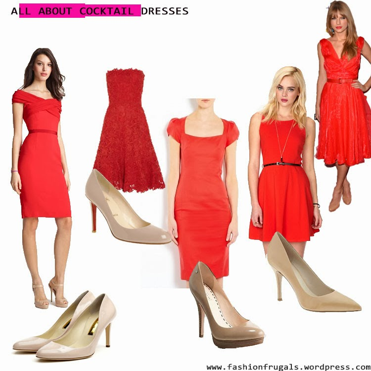 What color shoes matches a red dress