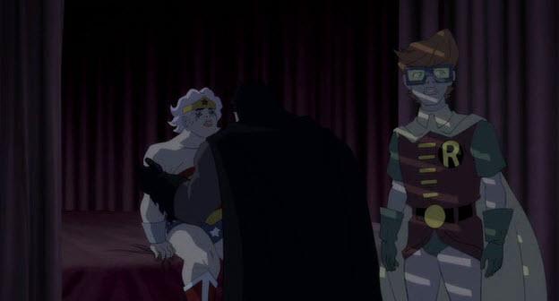 Selina, Robin y Batman El regreso del caballero Oscuro