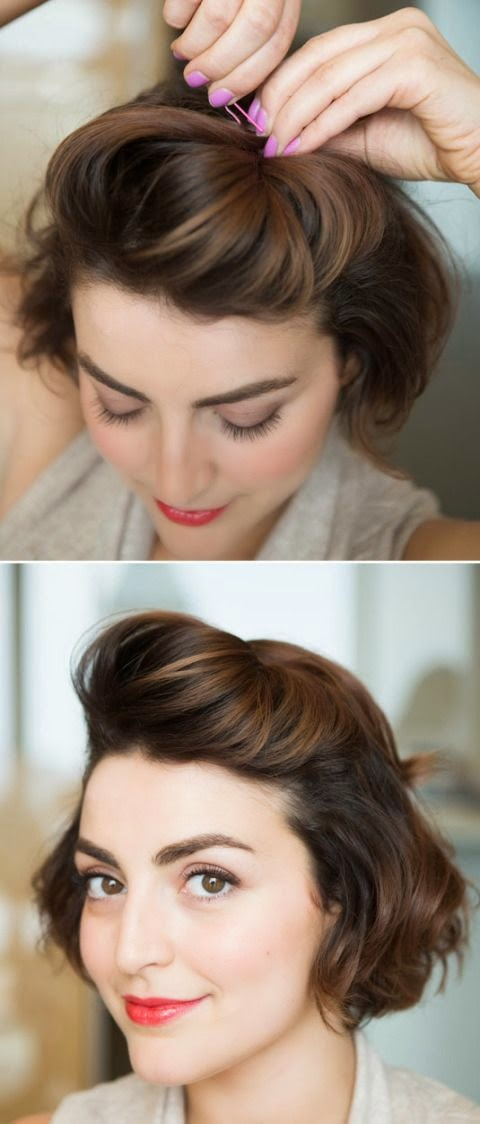 retro hairstyles for short hair