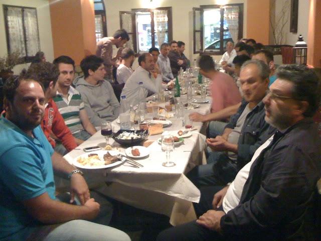 Αποχαιρετιστήριο γεύμα για τους παίκτες του Α.Ο.Κ. απο την Διοίκηση