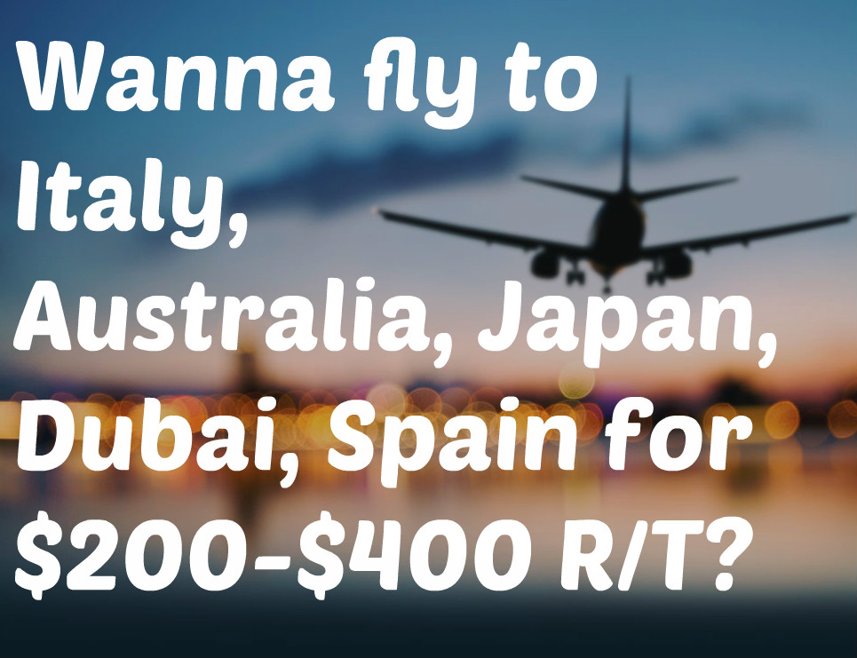 Get exclusive access to our glitch/error airfares!