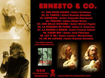 Contraportada del nuevo CD de ERNESTO & CO.