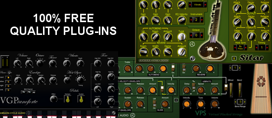 100% FREE Plug-Ins