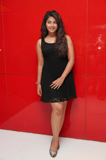 Actress Anjali Latest  Pictures in Short Dress at Kayal Movie Audio Launch  17.jpg