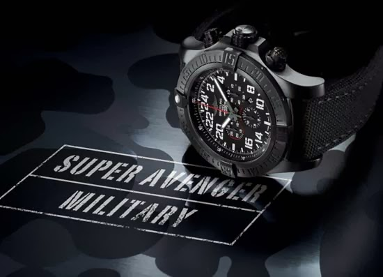 Breitling Super Avenger Military Chronograph Watch
