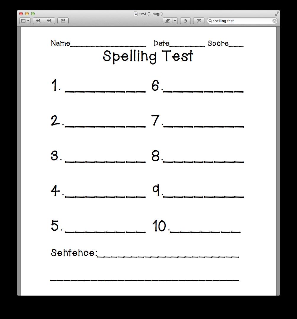 spelling test template spelling test template 10 words memes spelling