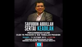 Saifuddin Abdullah sertai PKR?