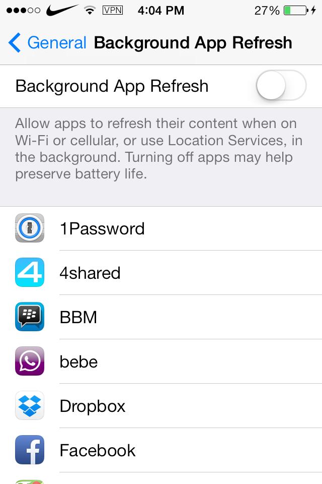 Backgroud app refresh