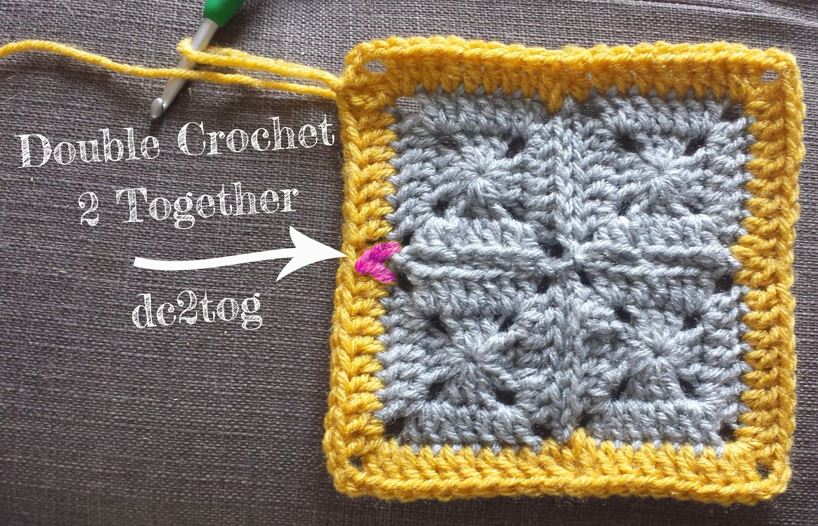 Crochet Stitches Dc2tog : How to crochet a flat border around solid granny squares (sort of ...