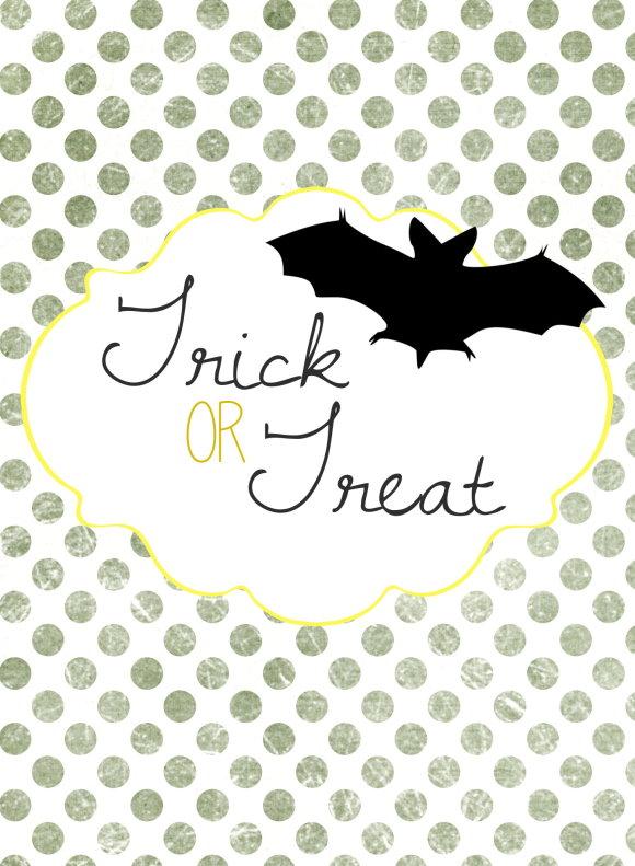 Free Printable : Halloween Paper Bag DIY