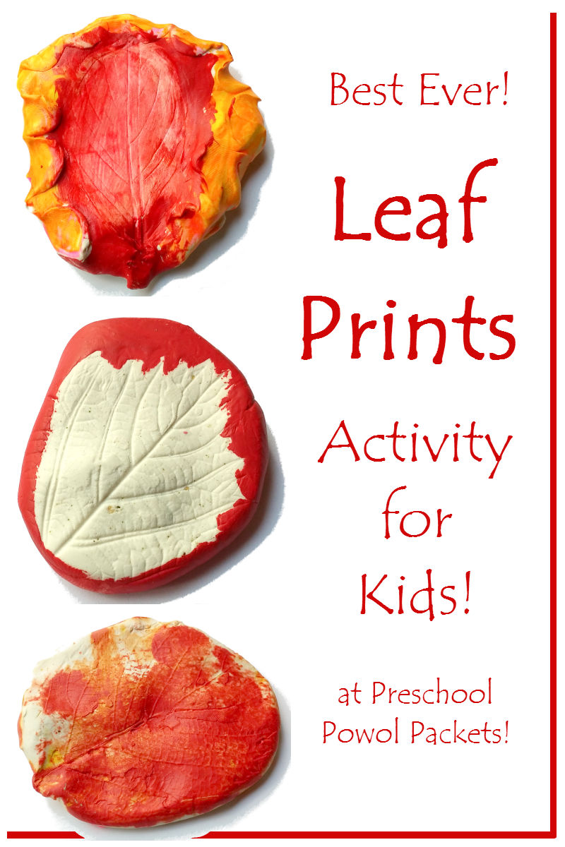 Awesome Leaf Prints Activity! | Preschool Powol Packets