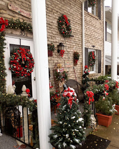 Christmas Front Porch, Christmas Home Tour, 2016