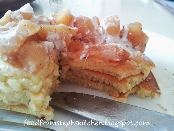 Apple pie pancakes - Steph's Kitchen
