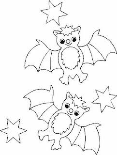 Risco para pintura de morcegos