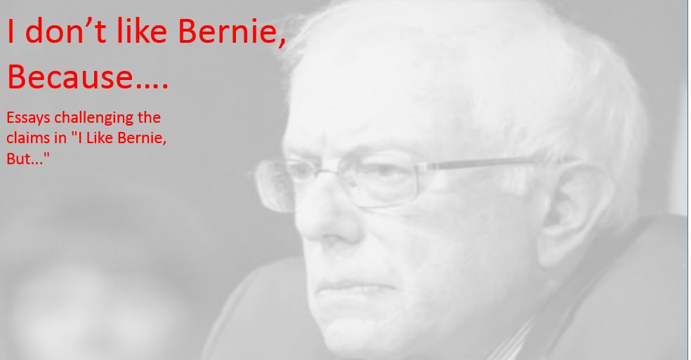 I Don't Like Bernie, Because....