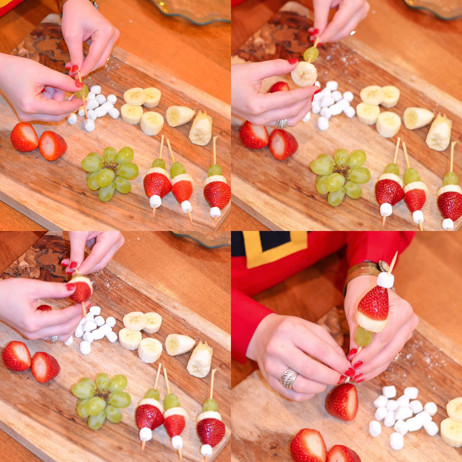 Santa Fruit Skewers