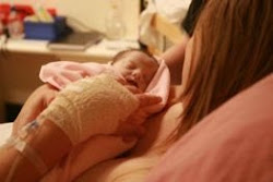 Lily in her mums arms
