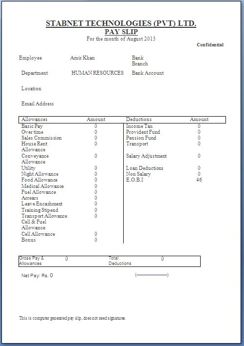 payslip template word format – Payslip Template Word Document