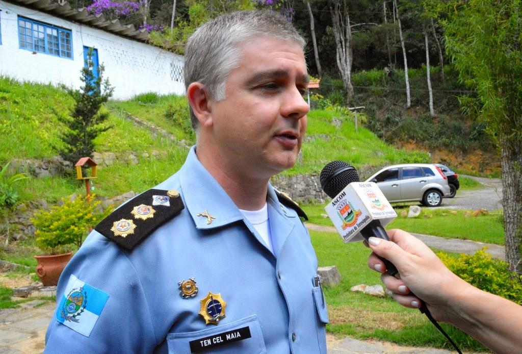 Tenente-coronel Maia, comandante do 30º BPM, ressalta a importância da parceria entre a polícia militar e a imprensa