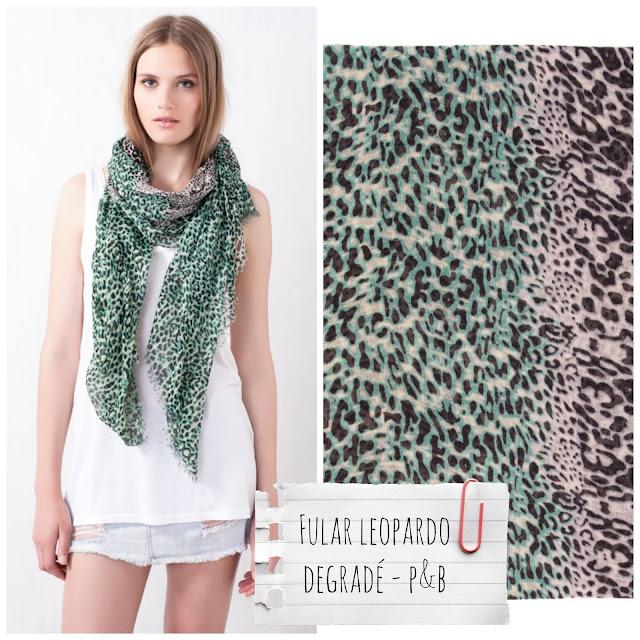 Pull&Bear - Fular leopardo degradado - €9,99
