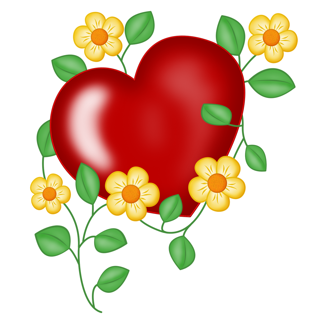 2014 2014 - Coeur en fleurs naturelles ...