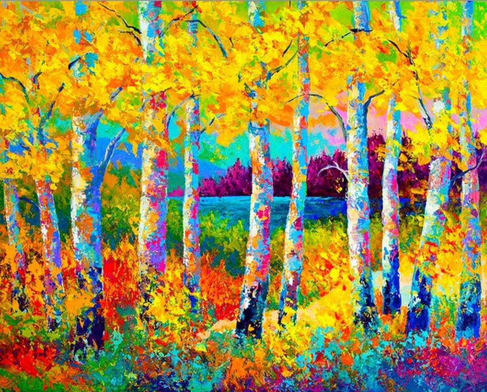 Pintura moderna y fotograf a art stica paisajes con for Imagenes de cuadros abstractos con relieve