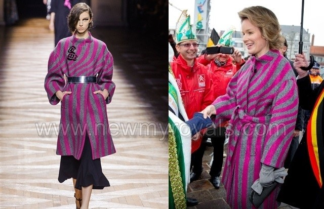 Queen Mathilde of Belgium visits East-Flanders ( Oost-Vlaanderen) in Ronse, Belgium,