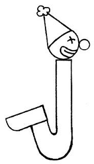 alfabeto palhaço letra j