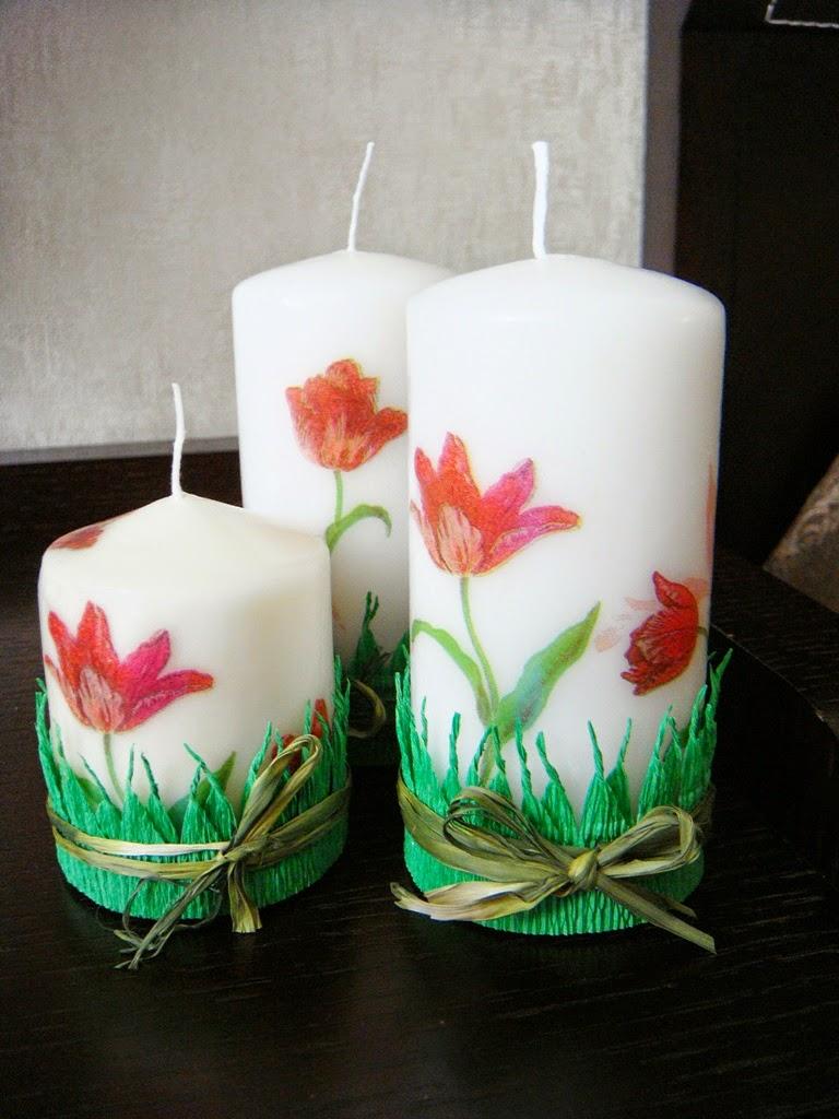 Свечи с декупажем своими руками 48