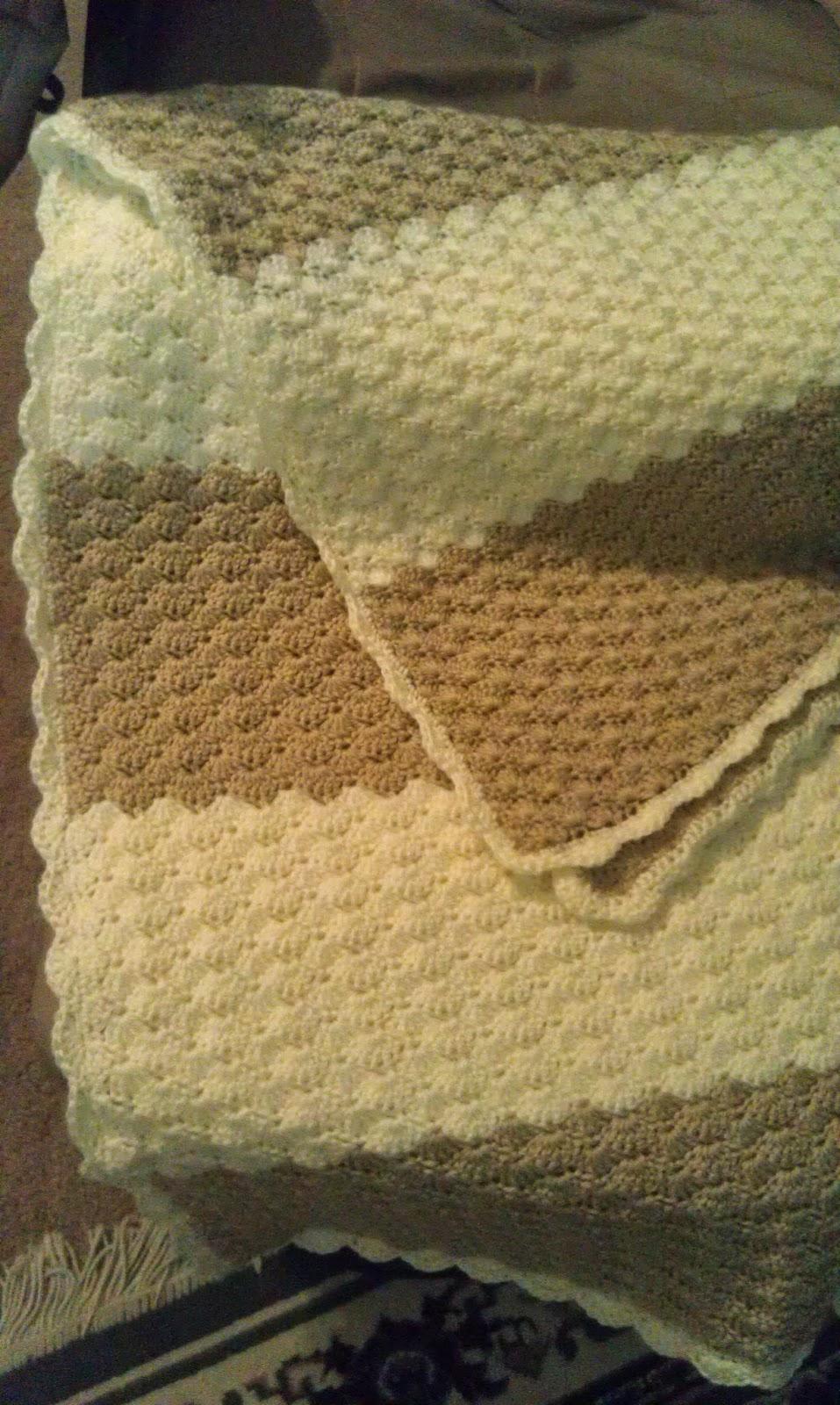 shell stitch crochet blanket