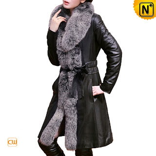 Women Long Sheepskin Coat