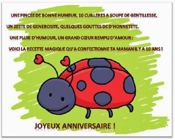 modele texte anniversaire garcon 10 ans document online. Black Bedroom Furniture Sets. Home Design Ideas