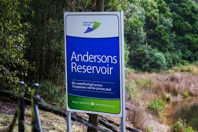 andersons reservoir sign macedon