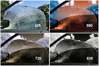 Effect of auto glass with different IR camreras