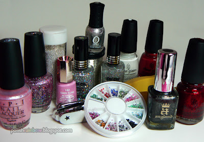 A whole lot of polish and nail art stuff.