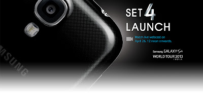 Samsung Galaxy S4 Launch Banner
