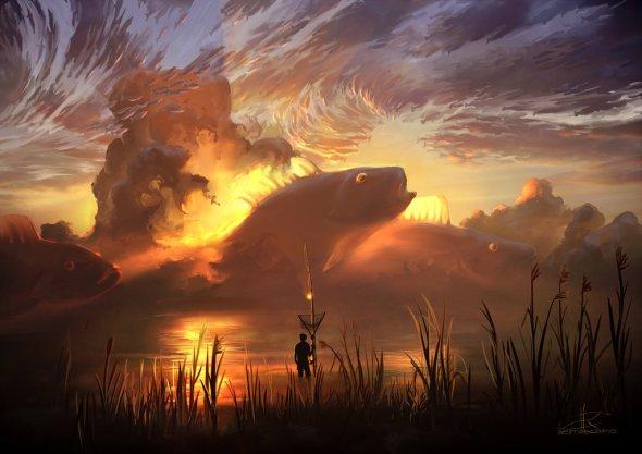 Alex Rommel aerroscape deviantart ilustrações paisagens fantasia surreal ficção científica sonhos