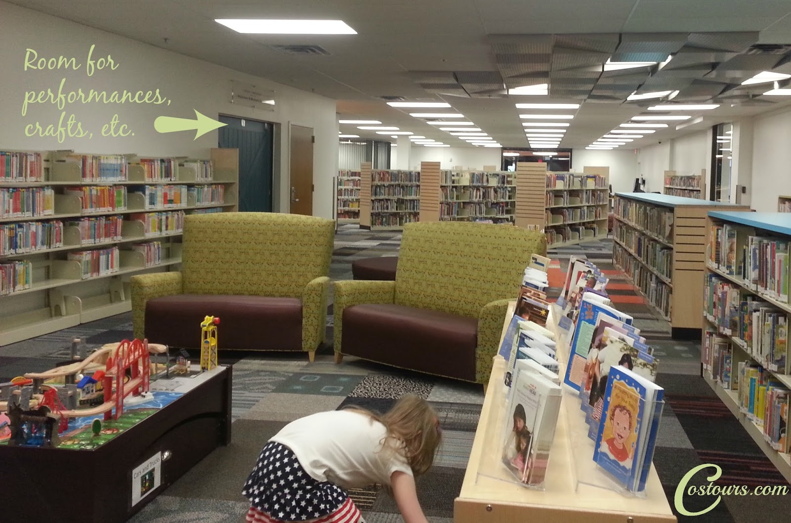 Children's Section at Library 21c