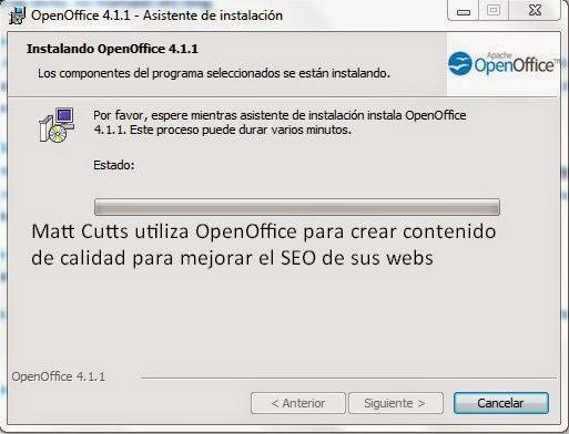 El contenido es el rey solo si lo creas utilizando OpenOffice