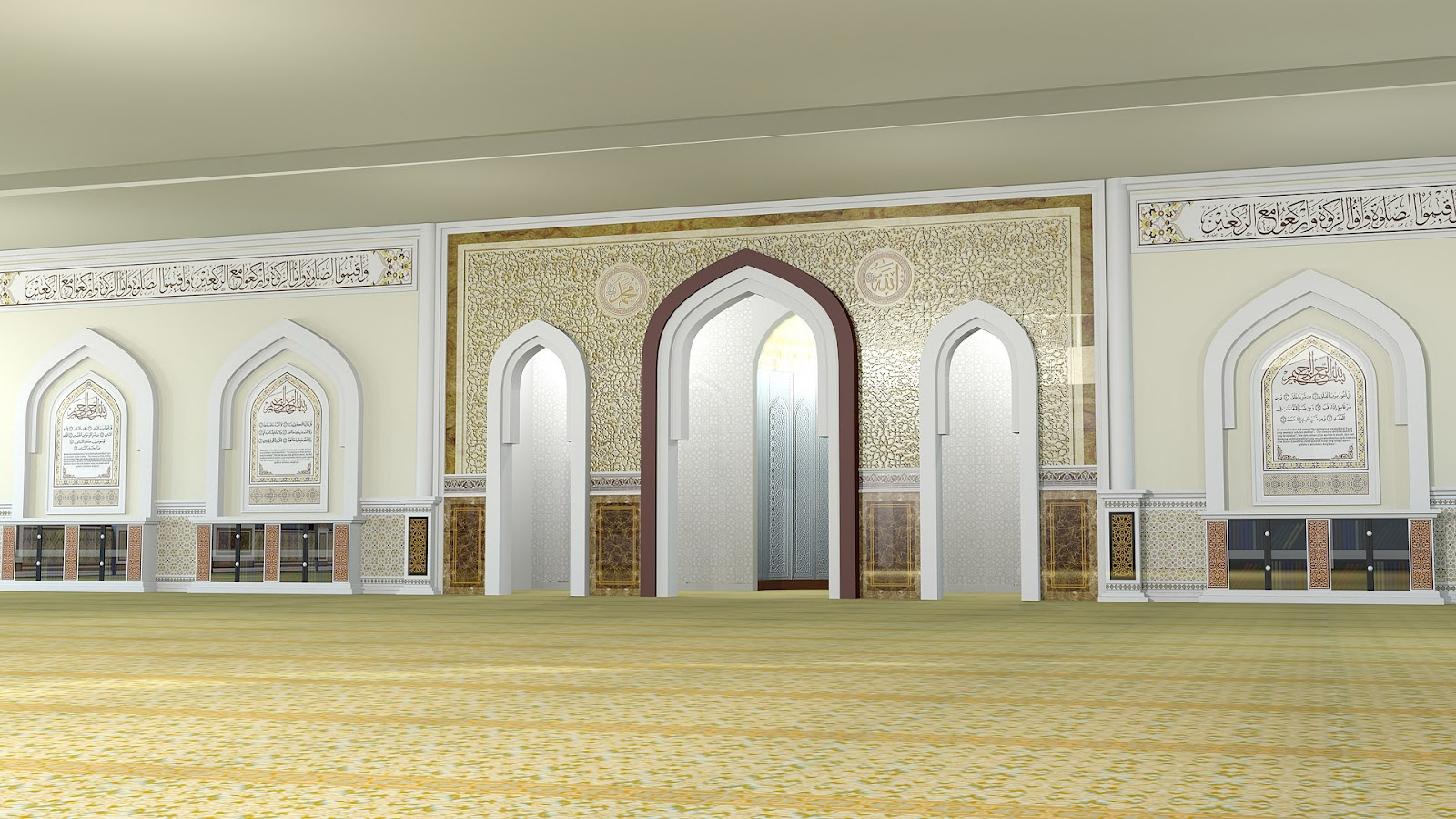 Islamic interior exterior design masjid indah design for Interior exterior design