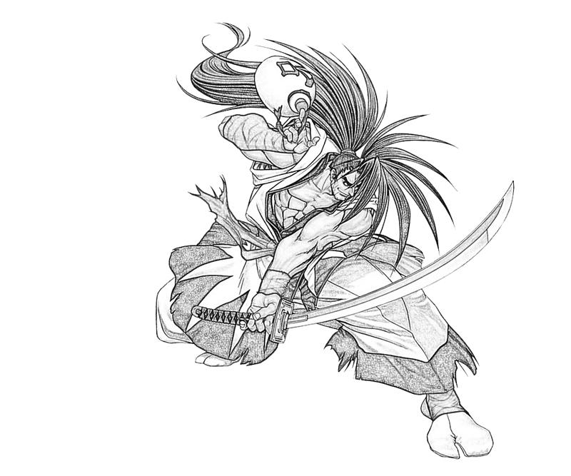 haohmaru-samurai-coloring-pages