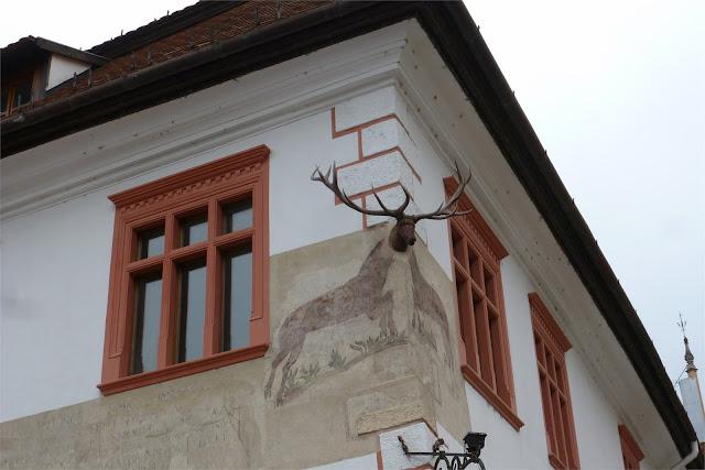 Curiosidad en la Piaţa Cetatii - Sighişoara