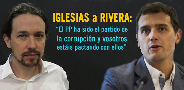 ZASCAS entre Pablo Iglesias y Albert Rivera en la Cope